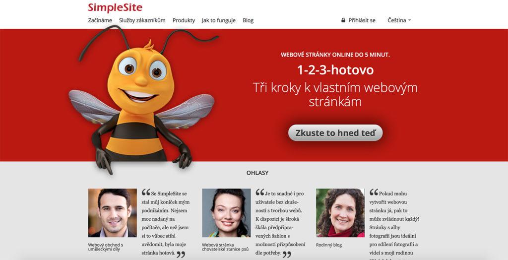 SimpleSite.com WYSIWYG editor webových stránok