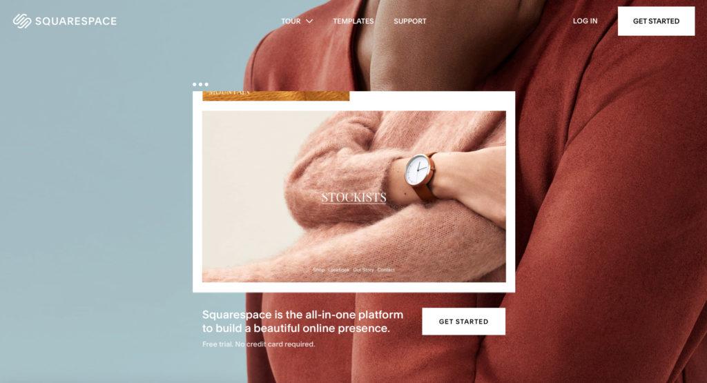 Squarespace.com WYSIWYG editor webových stránok