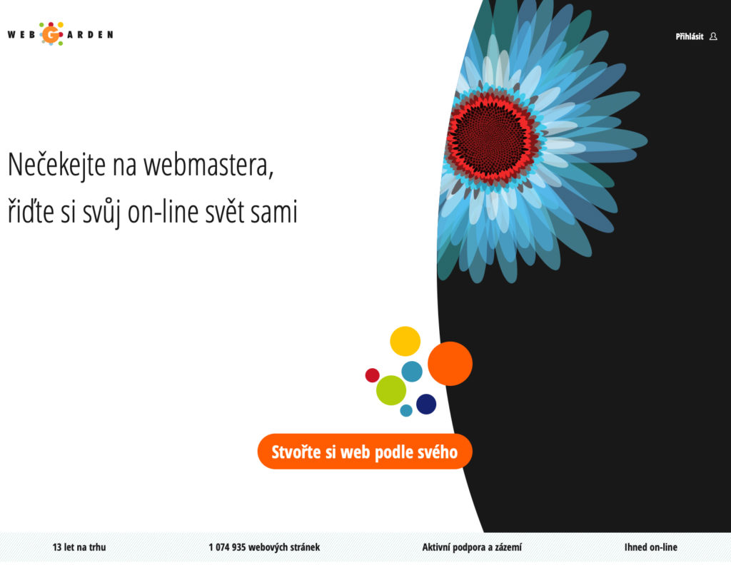 Webgarden.cz WYSIWYG editor webových stránok