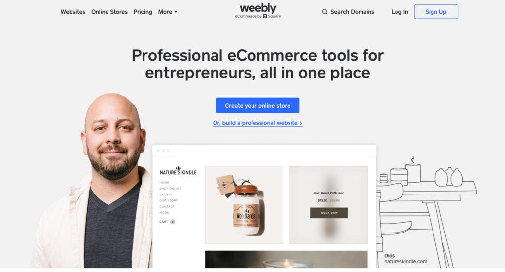 Weebly.com WYSIWYG editor webových stránok