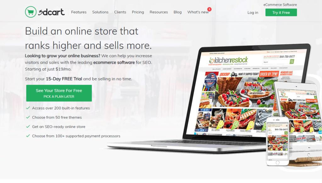 Shop builder 3dcart.com