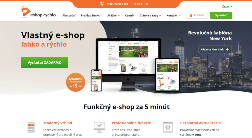 E-shopová platforma Eshop-rychlo.sk
