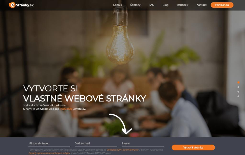 eStránky.sk WYSIWYG editor webových stránok