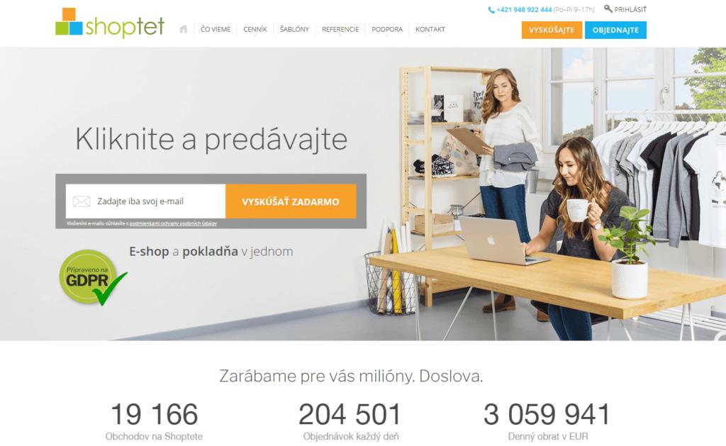 E-shopová platforma Shoptet.sk