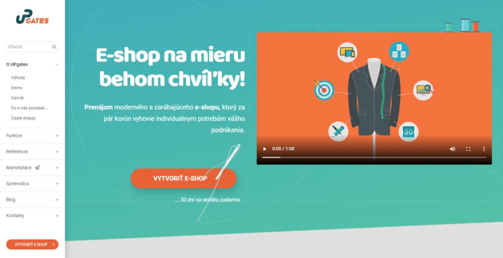 E-shopová platforma UPgates.sk