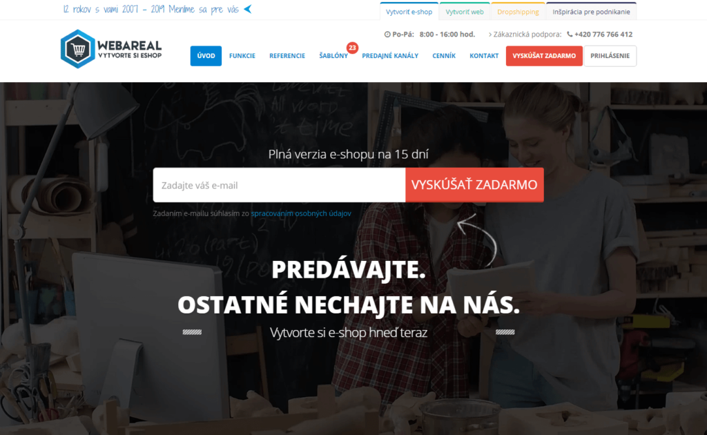 E-shopová platforma Webareal.sk