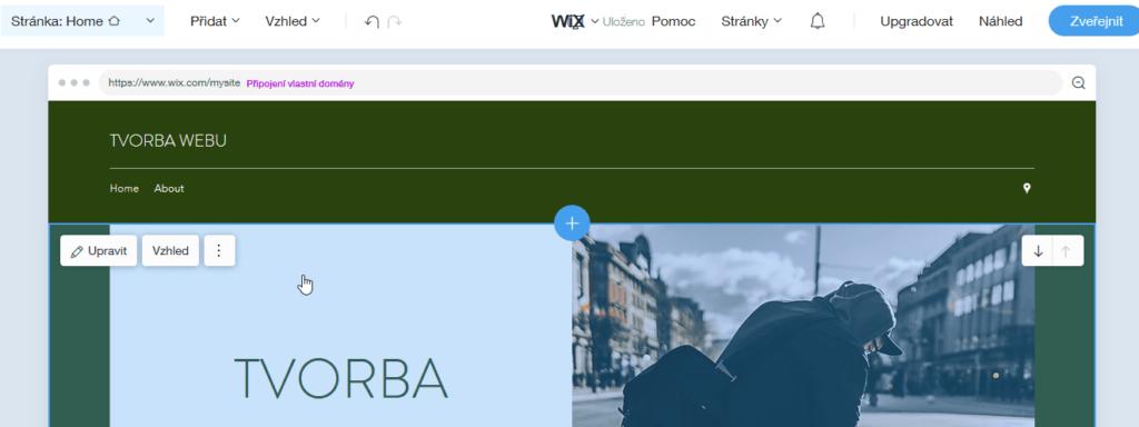 Wix návod - Wix ADI - úprava stránky