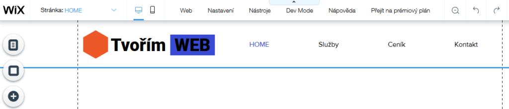 Wix recenzia - tvorba webu - úprava loga