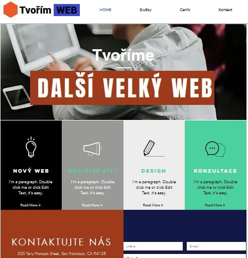 Wix recenzia - tvorba webu - vytvorené webové stránky
