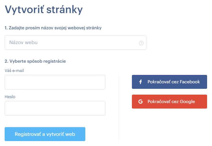 Webnode recenzia registrácia do Webnode.sk