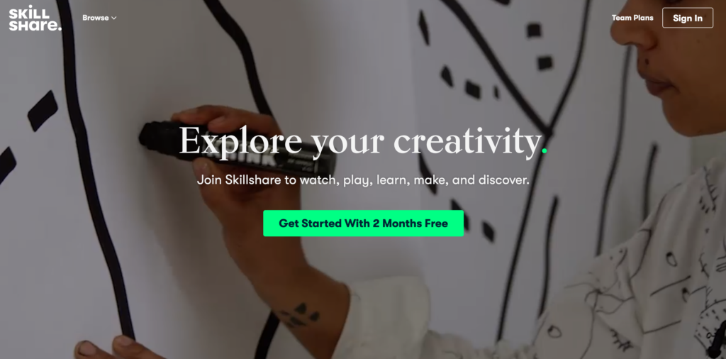 Skillshare.com online kurzy