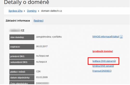 Návod ku AffilBoxu - pridanie CNAME do DNS