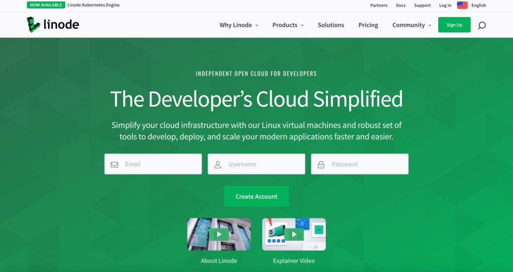 Linode.com webhosting