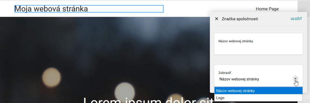 WebSupport Vlastná Webstránka - návody - tvorba stránok zmena loga
