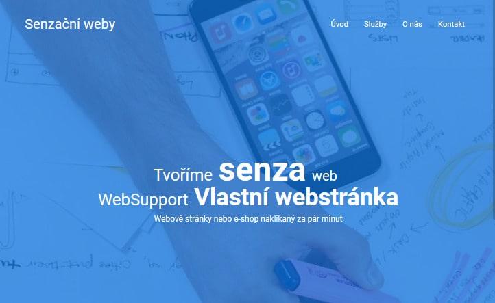 WebSupport Vlastná Webstránka recenzia - tvorba stránek - finálny web