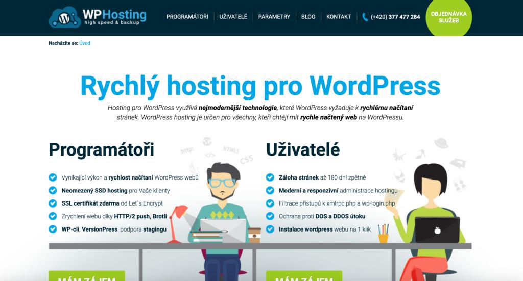 WP-hosting.cz webhosting