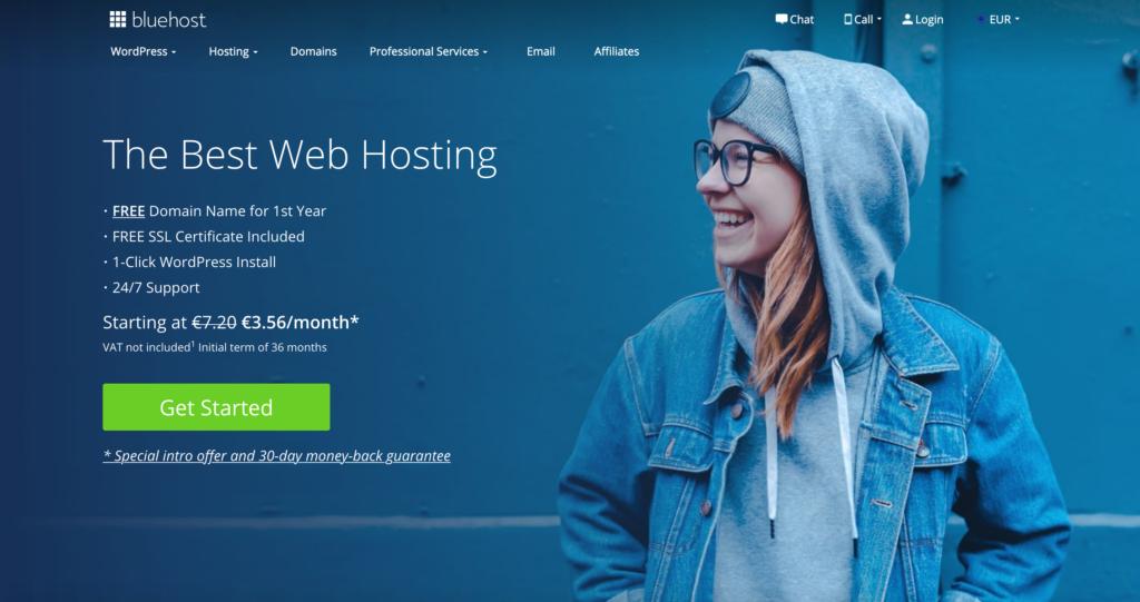 Bluehost.com webhosting
