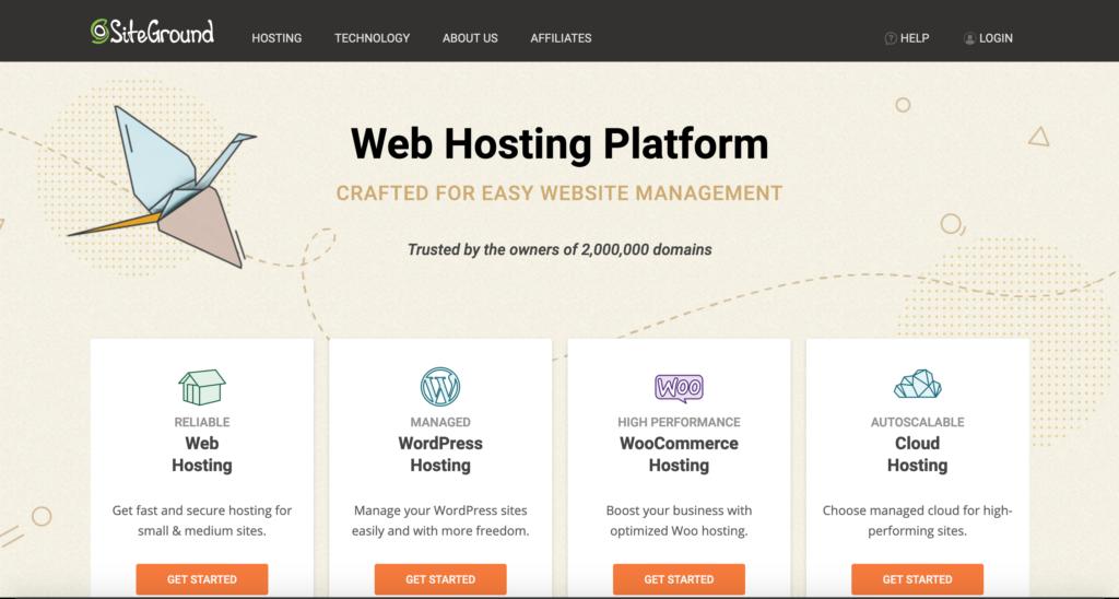 Siteground.com webhosting