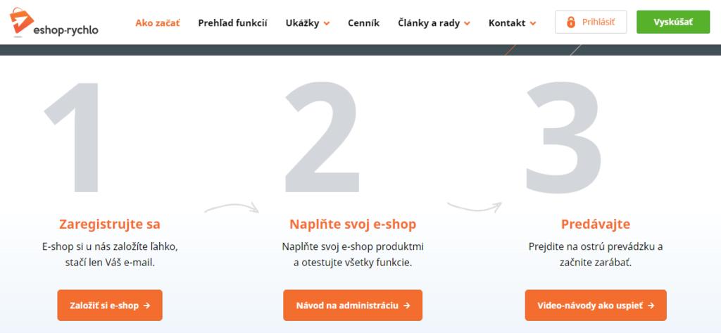 Recenzie Eshop-rýchlo - hlavné kroky spustenia e-shopu