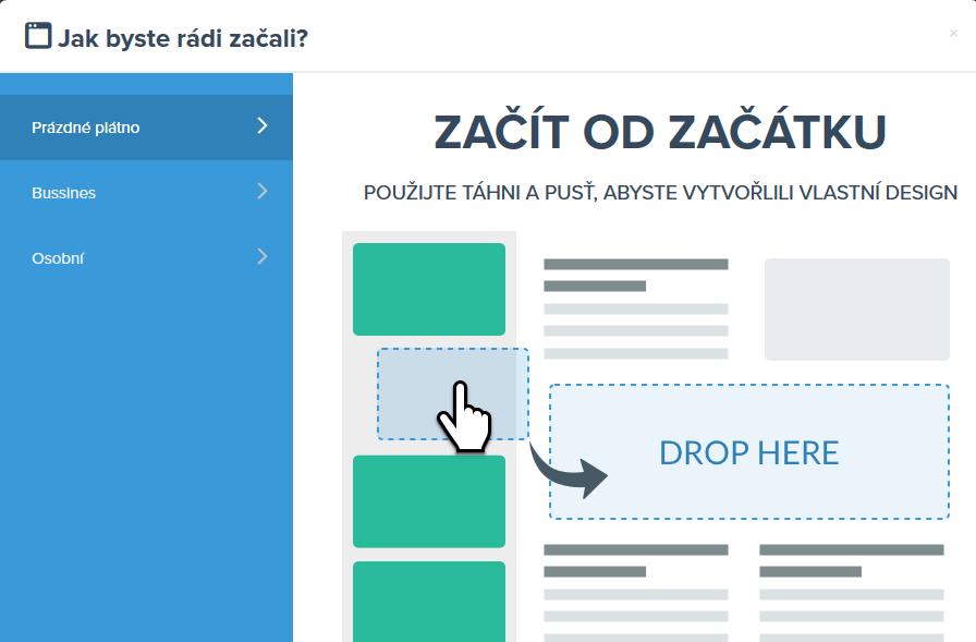 Recenzia WEDOS Website - drag&drop editor