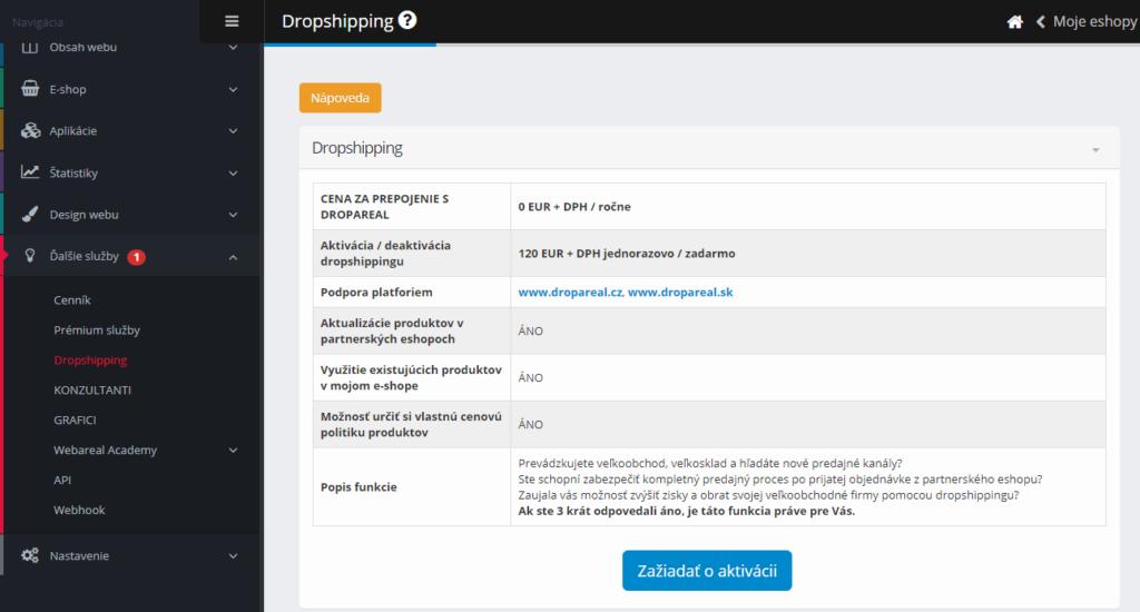 Webareal recenzia - dropshipping