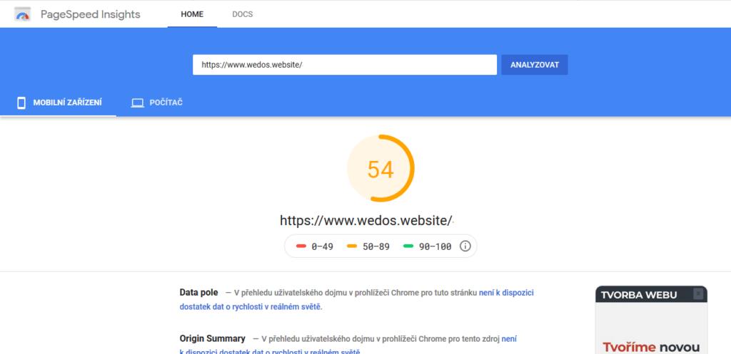 Recenzia WEDOS Website - tvorba webu - finálne webové stránky