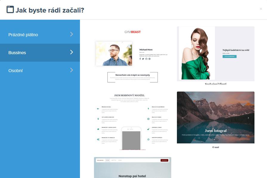 Recenzia WEDOS Website - šablóny
