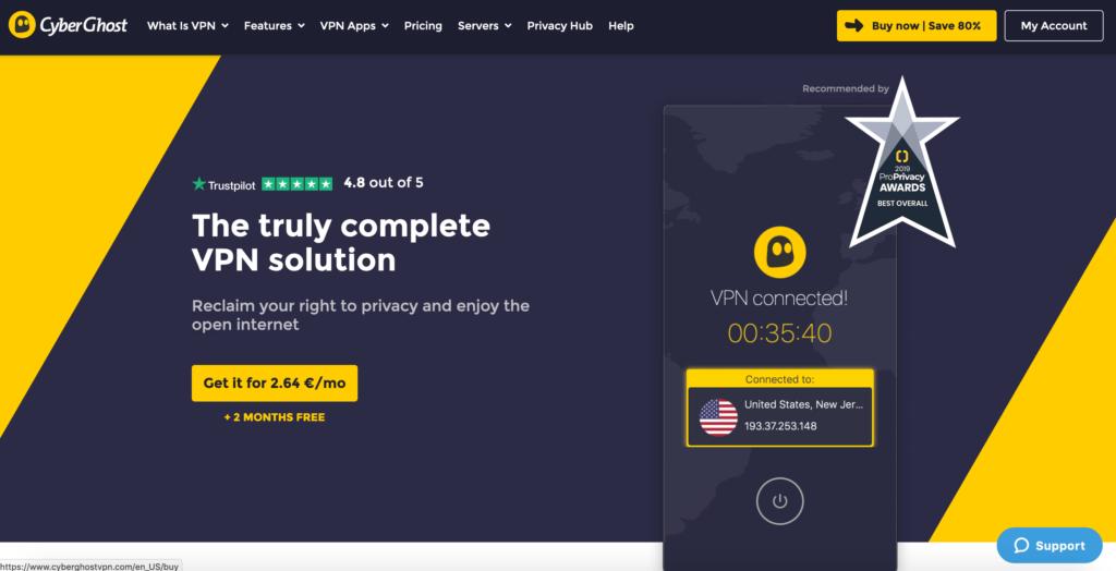 CyberGhost VPN recenzia
