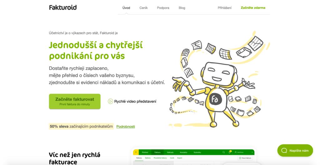 Fakturoid.cz fakturačný nástroj pre firmy