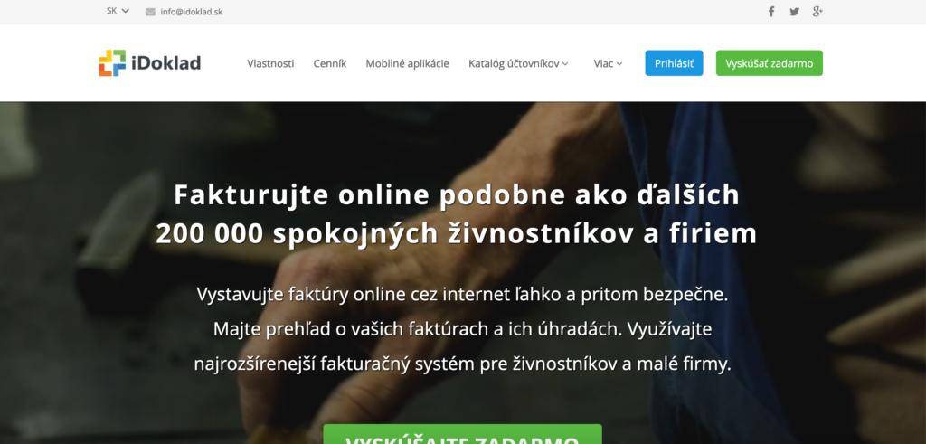 iDoklad.sk fakturačný nástroj pre firmy