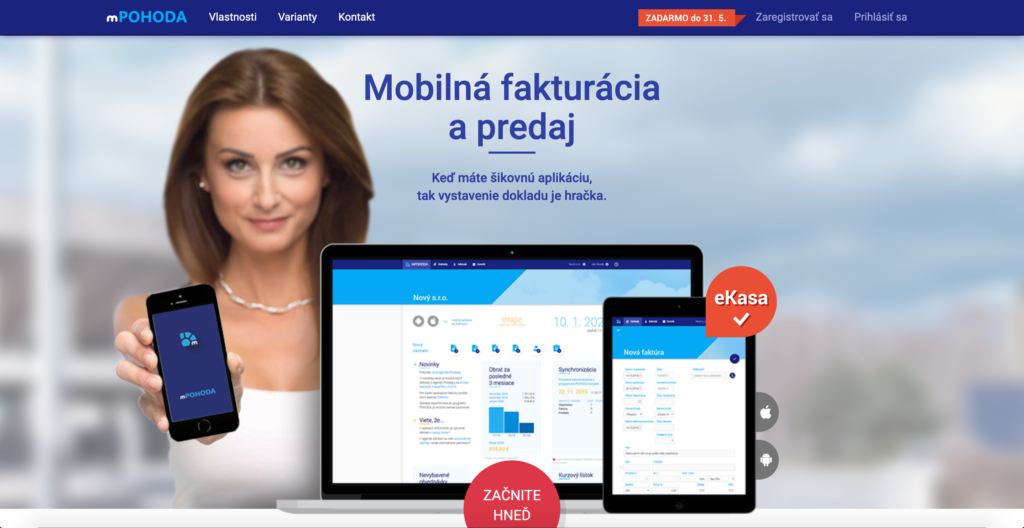 mPohoda.sk fakturačný nástroj pre firmy a živnostníkov