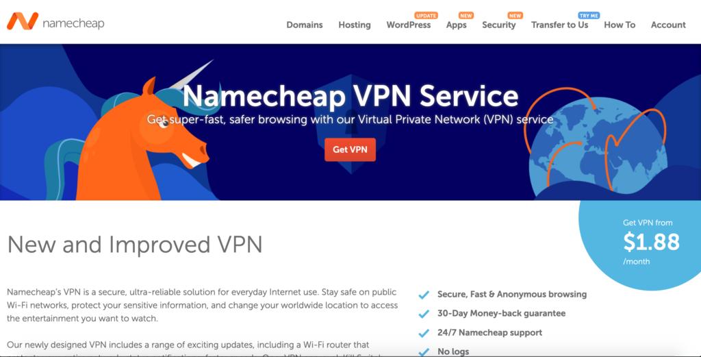 Namecheap VPN recenzia