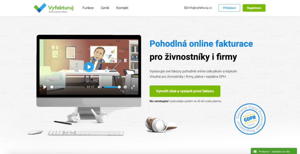 Vyfakturuj.cz fakturačný systém pre firmy