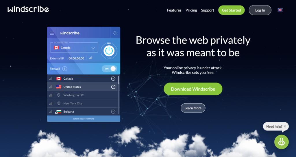 WindScribe VPN recenzia