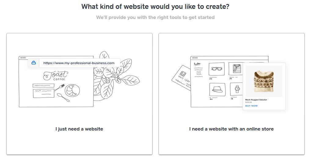 Recenzia Weebly - návod ako vytvoriť stránky - výber - webové stránky alebo e-shop