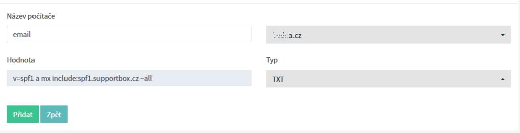 SupportBox Recenzie - nastavenie SPF záznamov