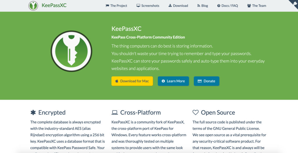 KeePassXC.org password manager