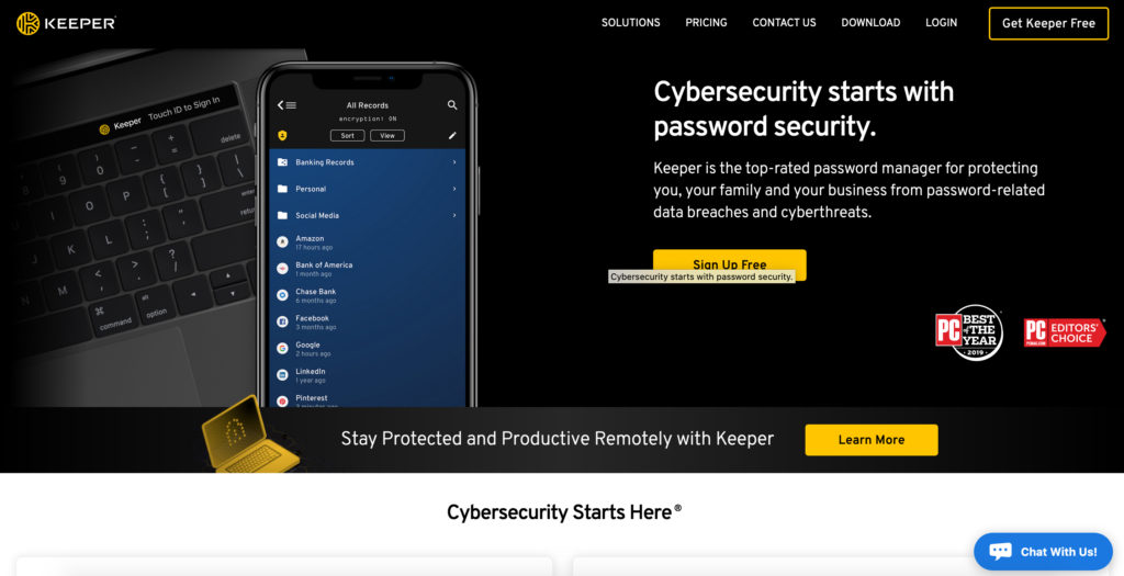 Keepsecurity.com password manager