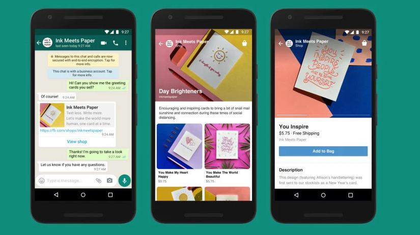 Facebook Shops vo WhatsApp