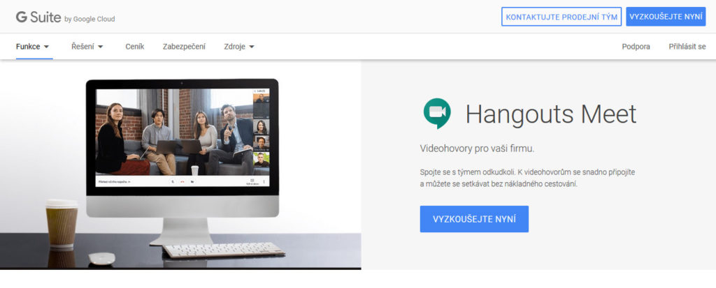 Platforma pre videokonferencie Google Hangouts Meet