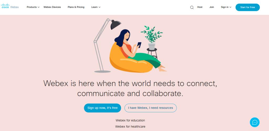 Platforma pre videokonferencie Webex