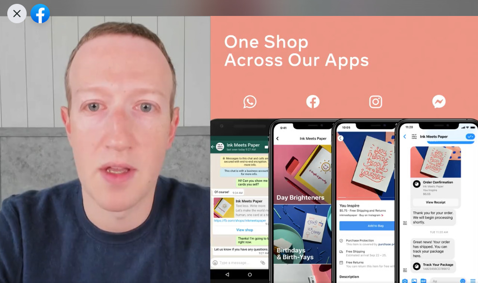 Mark Zuckerberg Facebook Shops