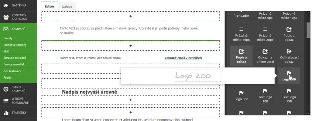 Recenzia SmartEmailing návod ako vytvoriť emailovú šablónu časť 2