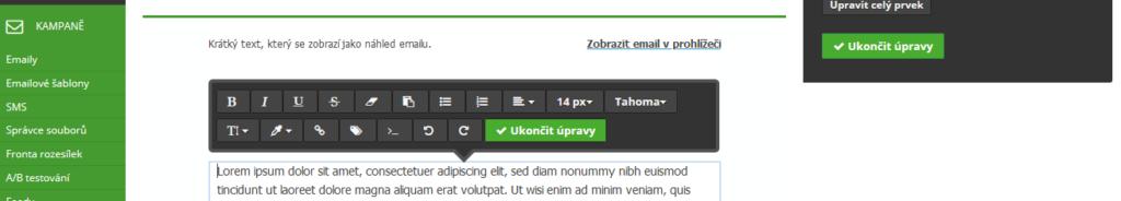 Návod na SmartEmailing ako vytvoriť emailovú šablónu časť 3