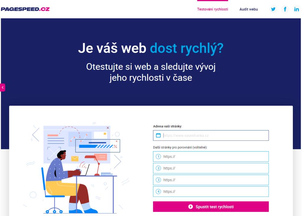 Nástroj na meranie rýchlosti webových prezentácií Pagespeed.cz