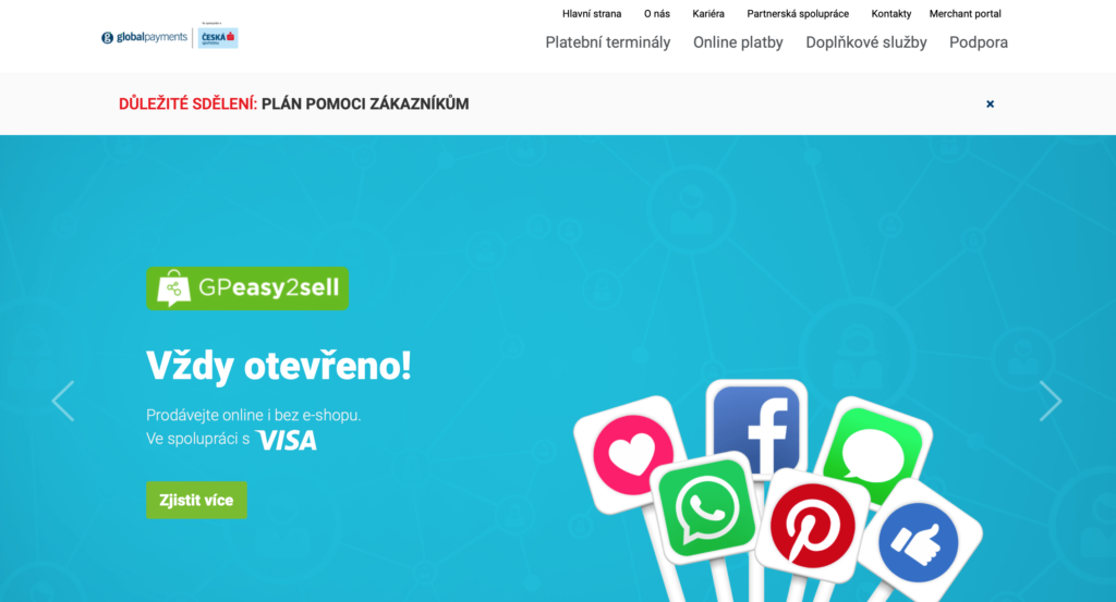 Plaobná brána Global Payments (GP Webpay)