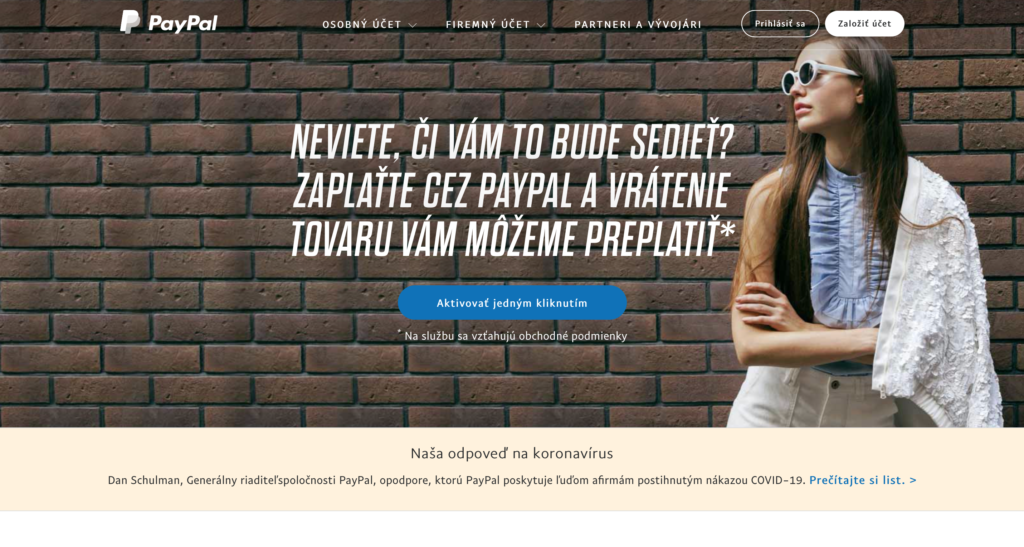 Platobná brána PayPal