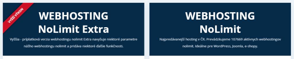 Recenzia Wedos - varianty webhostingov