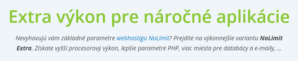 Recenzia Wedos webhosting Wedos NoLimit Extra