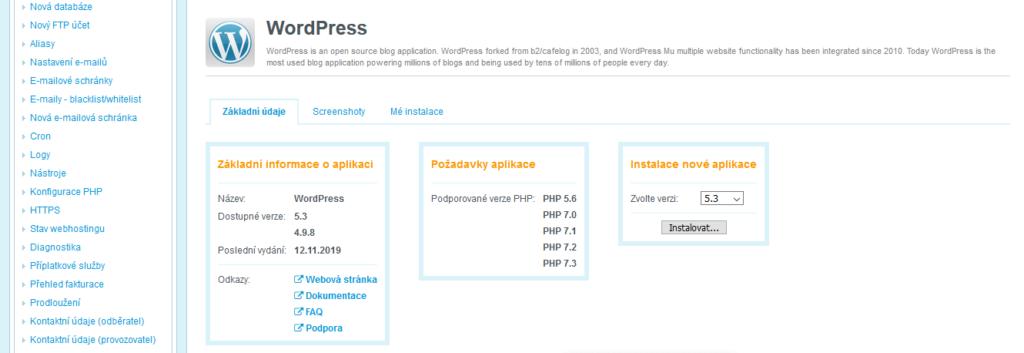 Wedos recenzia inštalácia WordPress I.